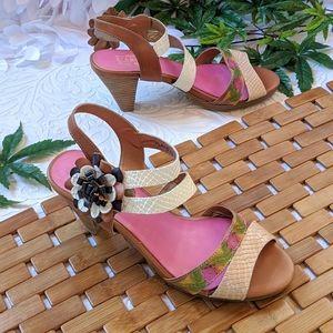 Boho Flower Heels l'artiste Shoes 9/9.5